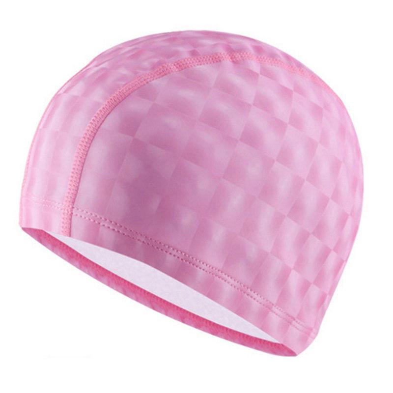 Купить Шапочка для бассейна F11840 ПУ (розовый), NoBrand