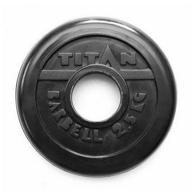Диск обрезиненный d51мм MB Barbell Titan 2,5 кг черный евро классик диск 5 кг 51 мм barbell mb pltbe 5