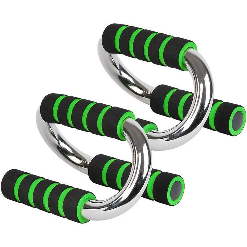 Купить Упоры для отжимания хром B34502 зеленый, NoBrand