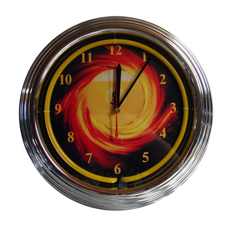 Купить Часы настенные NBU-3 (неон) D35см 40.098.00.3, NoBrand