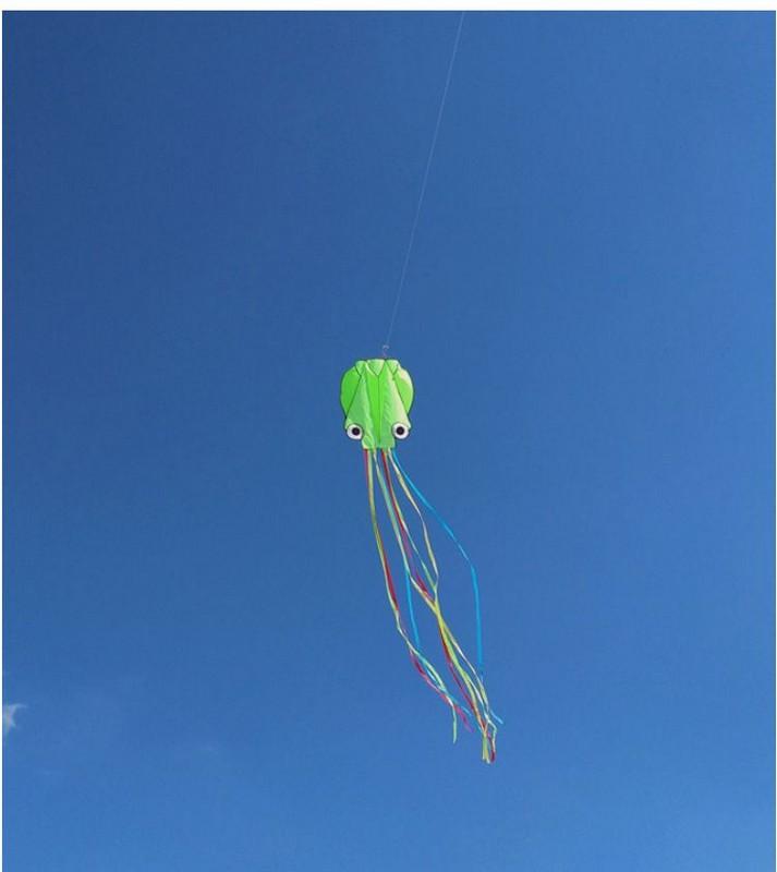Купить Воздушный змей Bradex Осьминог DE 0438 зеленый, Игры на свежем воздухе