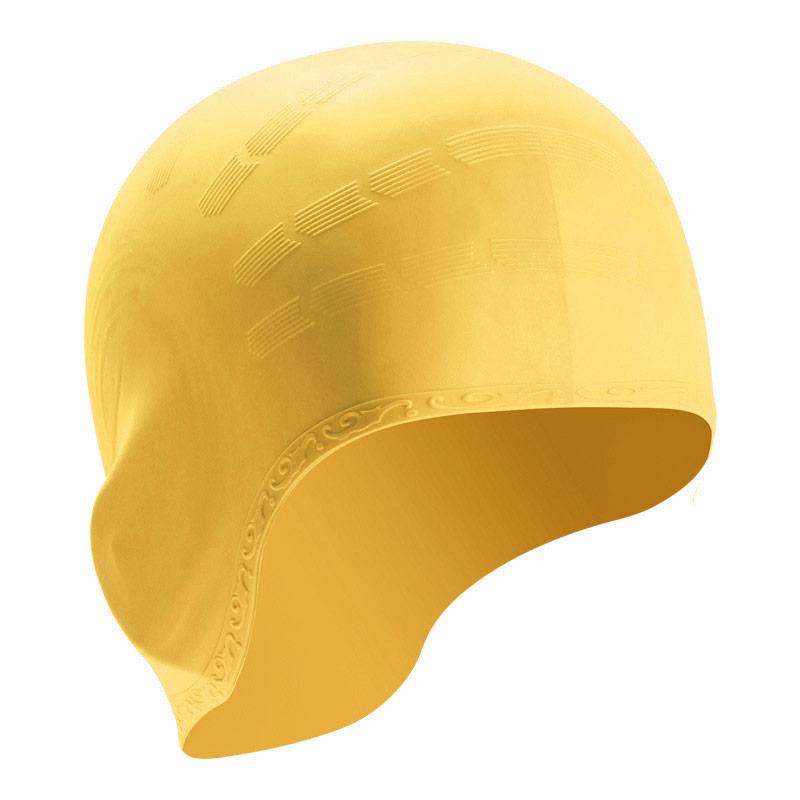 Купить Шапочка для плавания силиконовая B31514-4 (Желтый), NoBrand