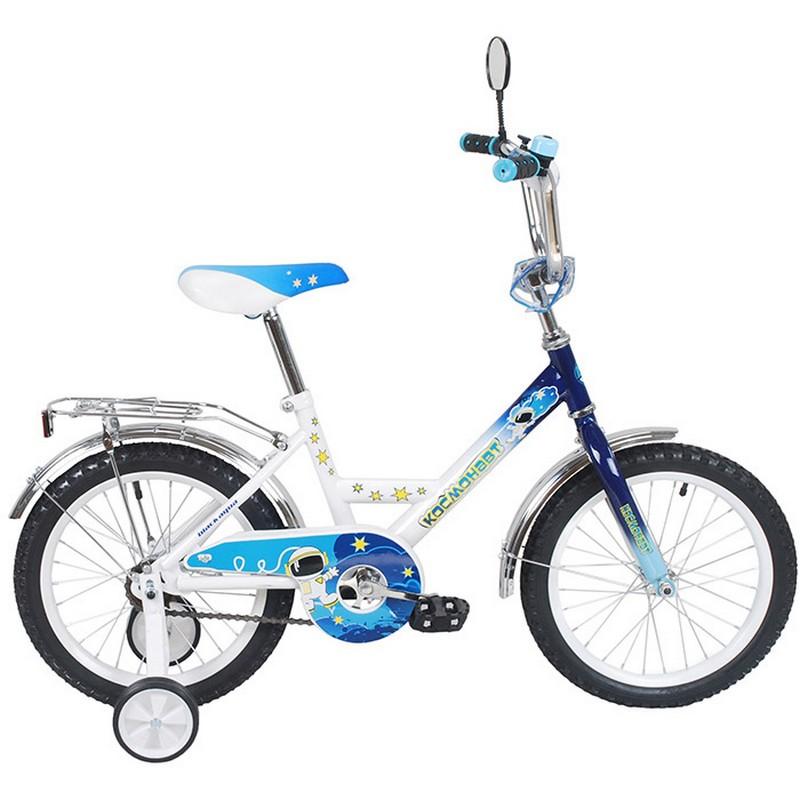 Купить Велосипед детский Black Aqua 16 quot; Космонавт, 1-ск KG-1616 синий, Детские велосипеды