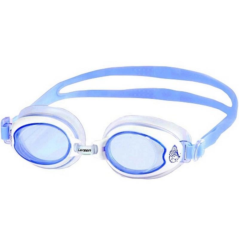 Купить Очки для плавания детские Larsen DR15 синий,