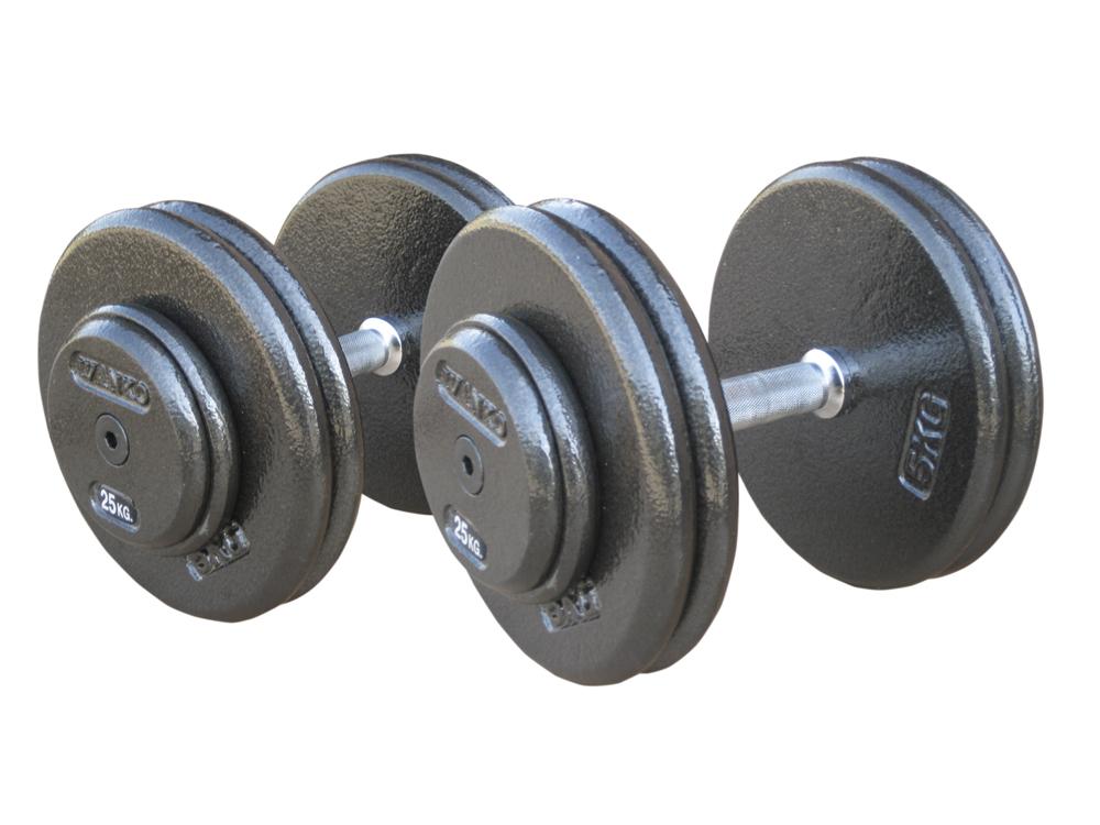 Купить Комплект гантелей металлических Johns 75070/2,5-10,
