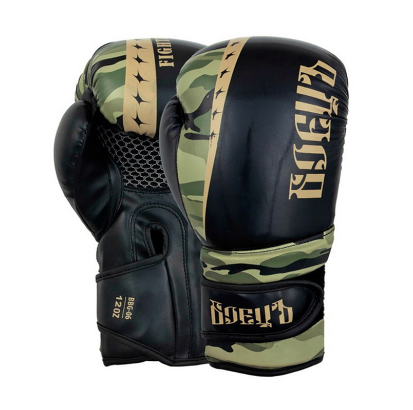 Купить Боксерские перчатки Боецъ BBG-06 Хаки 12 oz,