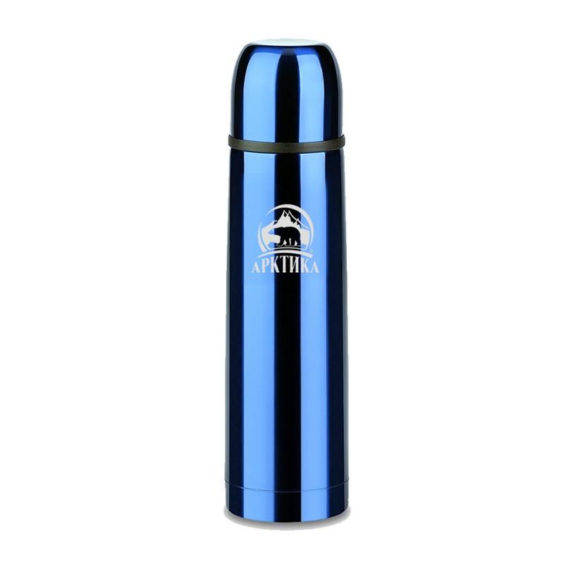Термос бытовой, вакуумный, питьевой 0,5 л Арктика 102-500, синий