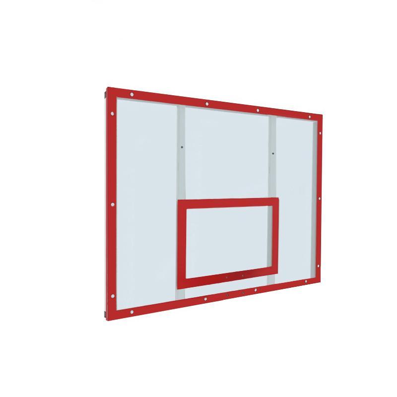 Купить Щит баскетбольный тренировочный 120х90 поликарбонат на раме (разметка красная) Dinamika ZSO-002095,