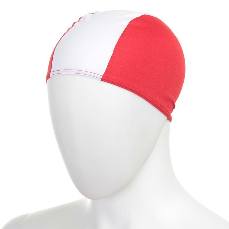 Купить Шапочка для плавания Fashy Polyester Cap детская 3236-00-15 полиэстер, бело-красная,