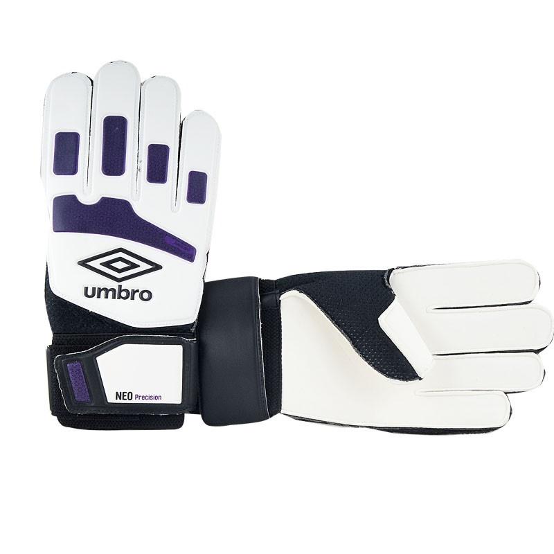 Перчатки вратарские Umbro Neo Precision Glove 20532U CQZ белый-т.фиолетовый-черный cs42528 cqz