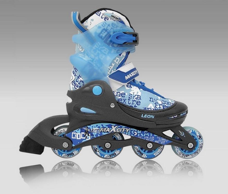 Роликовые коньки MaxCity Leon синий