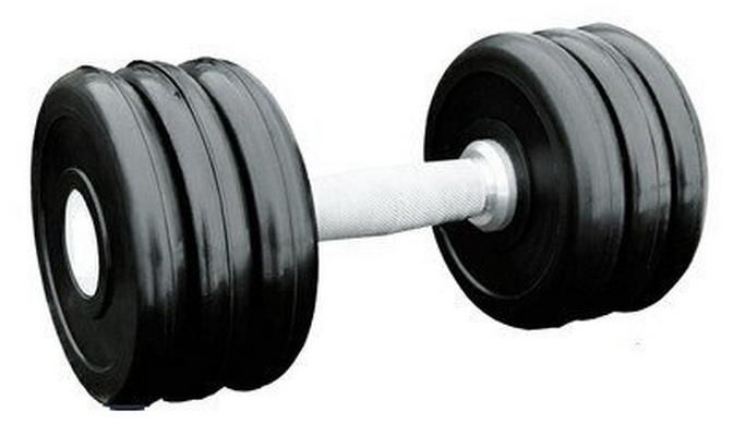 Купить Гантель профессиональная хром/резина 16 кг. Iron King IK 500-16,