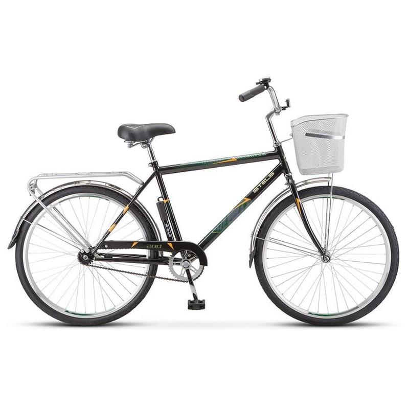 Купить Велосипед Stels Navigator 26 200 Gent Z010 2020 Черный (с корзиной) (LU094044),