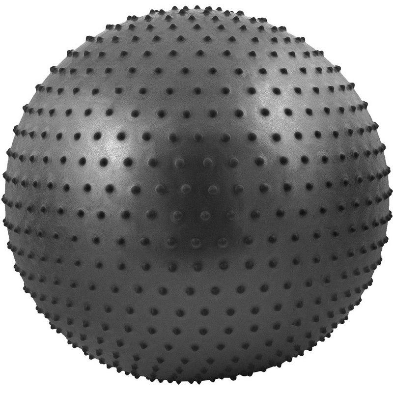 Купить Мяч гимнастический Anti-Burst массажный 75 см FBM-75-8, черный, NoBrand