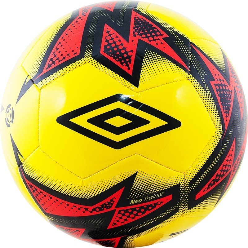 Мяч футбольный Umbro Neo Trainer 20877U (FPZ) жел/т.син/роз. (р.5)