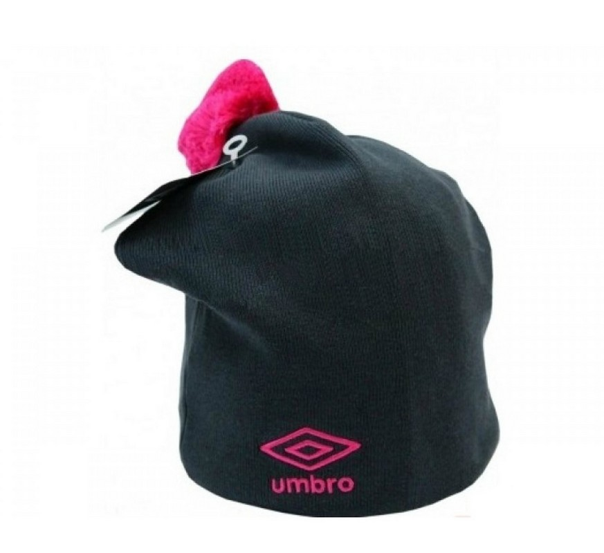 Шапка женская Umbro VS Bobble Hat 60885U (AZH) т.сер/роз.