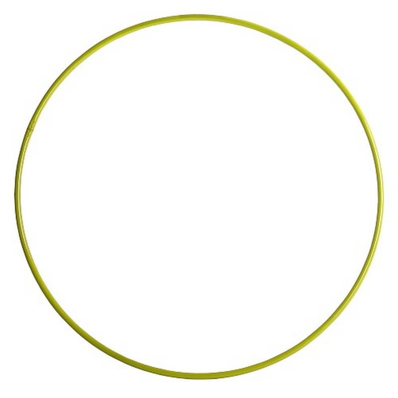 Обруч гимнастический 650мм желтый