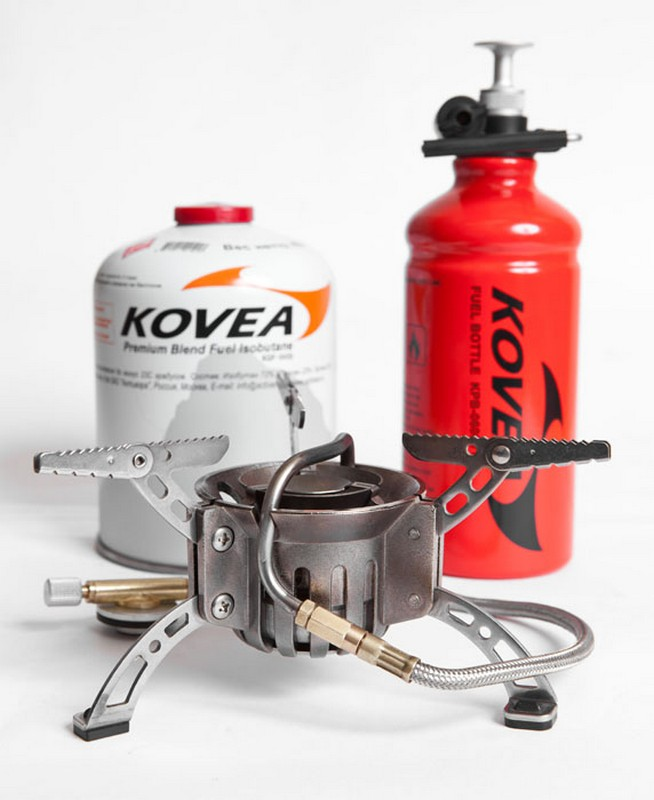 Горелка мультитопливная Kovea Booster +1 KB-0603 (газ-бензин) с флягой
