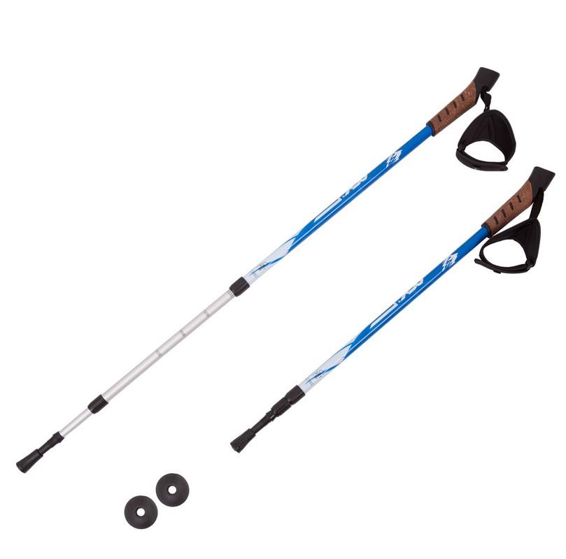 Палки для треккинга RGX 3-секционные 65-135 см TFG-01 синий