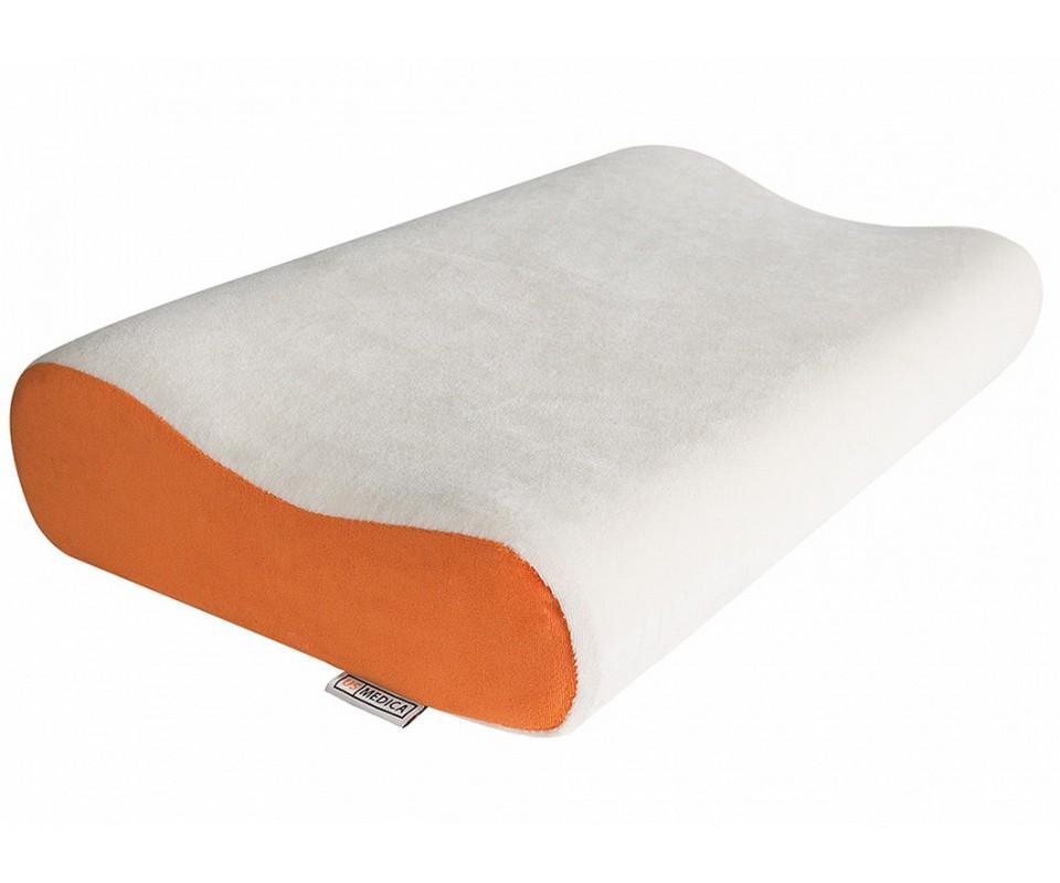 Ортопедическая подушка US Medica US-S NF (бело-рыжая) фото