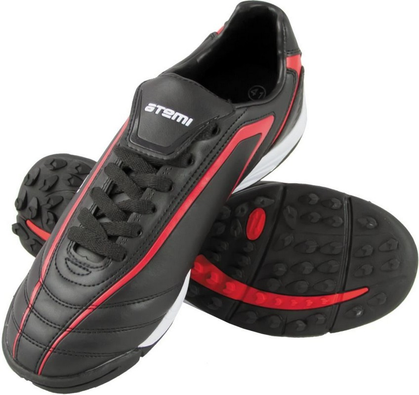 Бутсы футбольные Atemi, SD500 Turf, синтетическая кожа, черн/красн цена