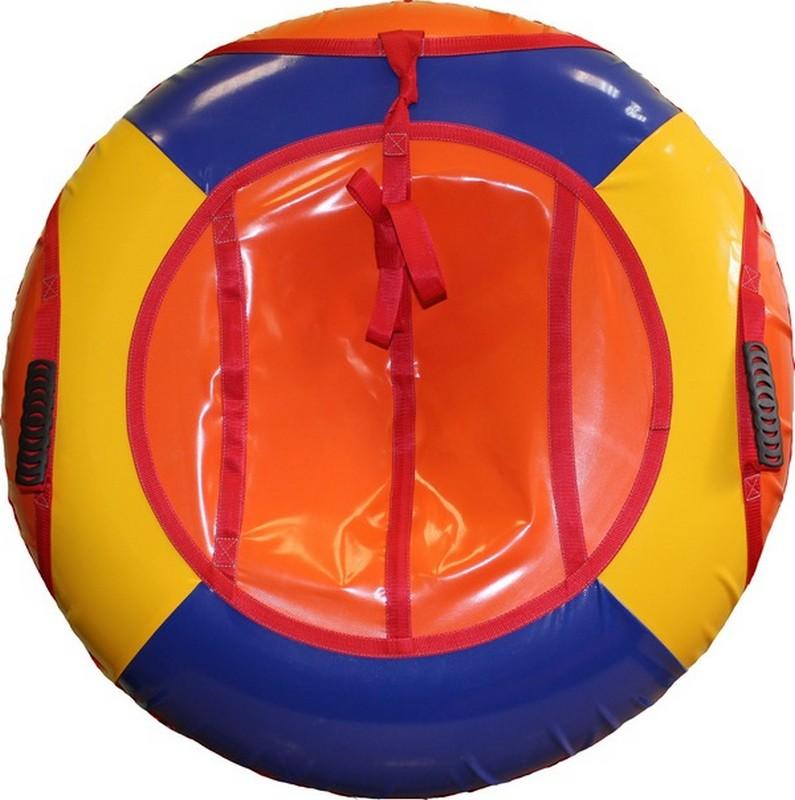Тюбинг Belon Тент-спираль, 85 см, СВ-004-С1 оранжевый-синий-желтый туннель игровой belon пи 004 т2 м2
