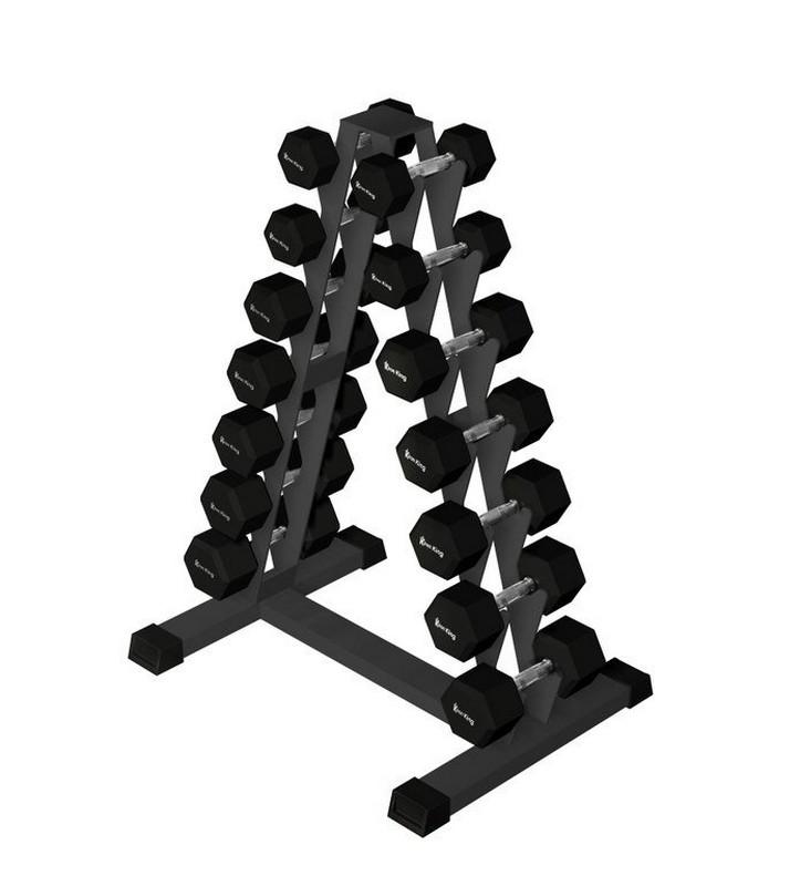 Купить Стойка для гексагональных гантелей Iron King на 7 пар, 4-10 кг (шаг 1 кг) IK 225,