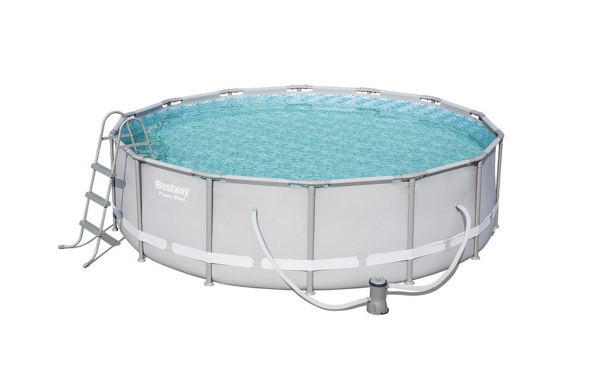 Купить Бассейн круглый на стойках 427x427x107 см Bestway 56641,