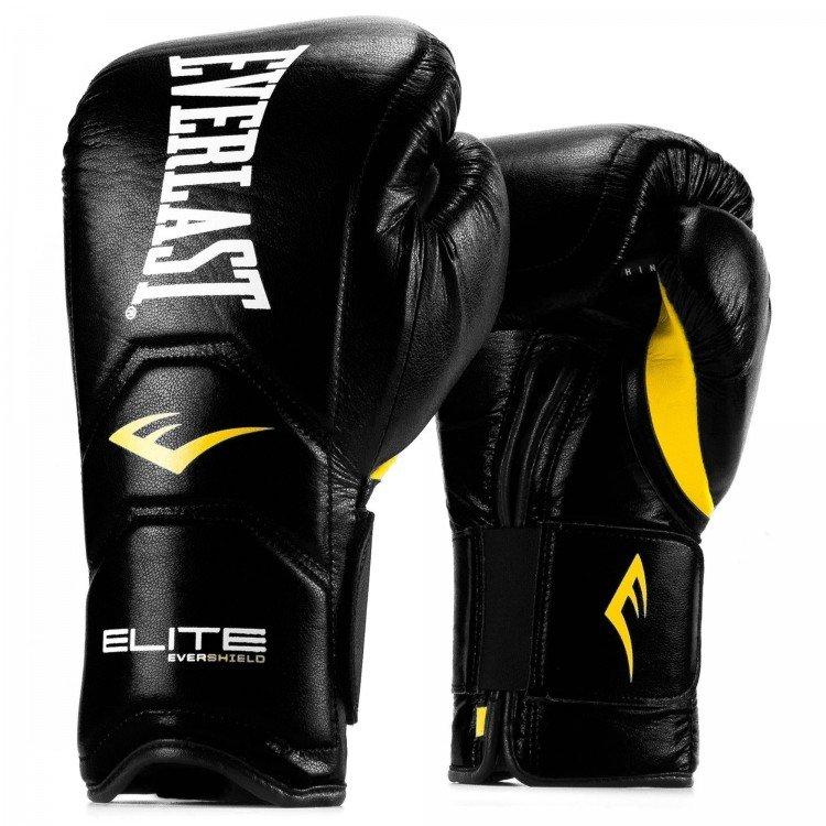 Купить Перчатки тренировочные Everlast Elite Pro 16 oz черный P00000680 BK,