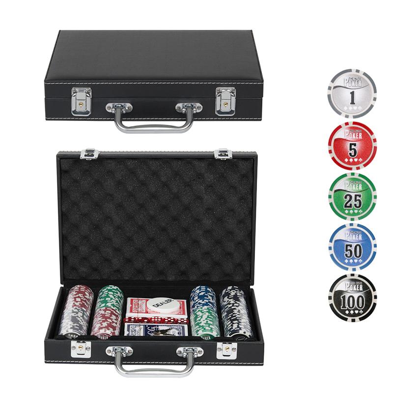 Набор для покера Leather Black на 200 фишек Lblack200 фишки для покера pokechip 5pcs 11 fichas e30