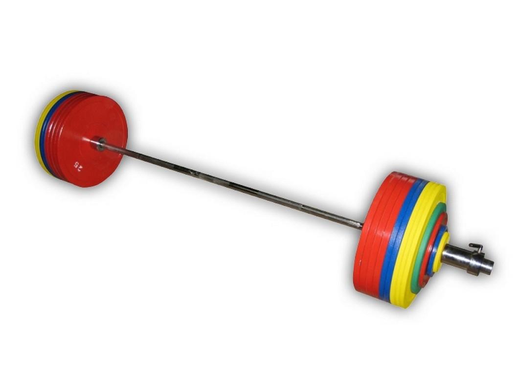 Штанга рекордная для пауэрлифтинга, 452,5 кг в наборе ProfiGym ШП-014 станки для правки дисков