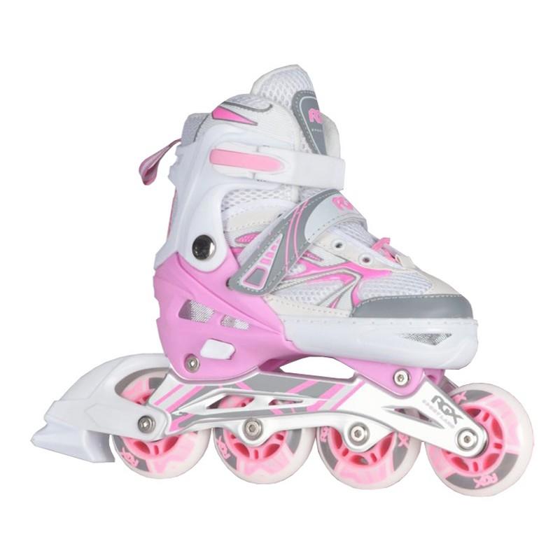 Купить Раздвижные роликовые коньки RGX Fantasy pink,