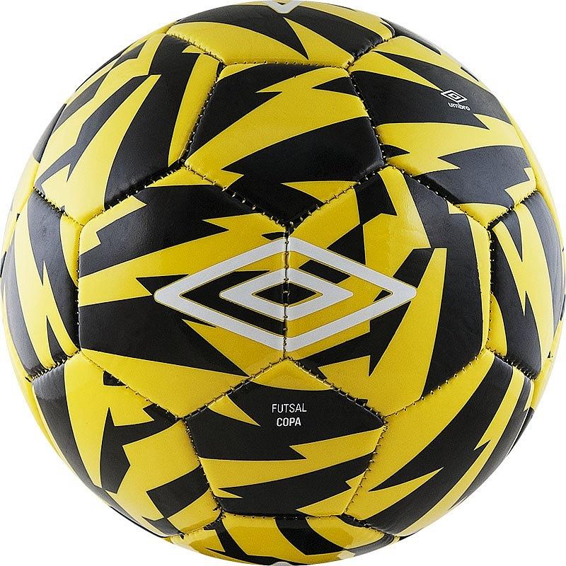 Мяч футзальный Umbro Futsal Copa 20856U (FNP) жел/чер/бел. мяч футзальный любительский р 4 umbro neo futsal liga 20871u fcy
