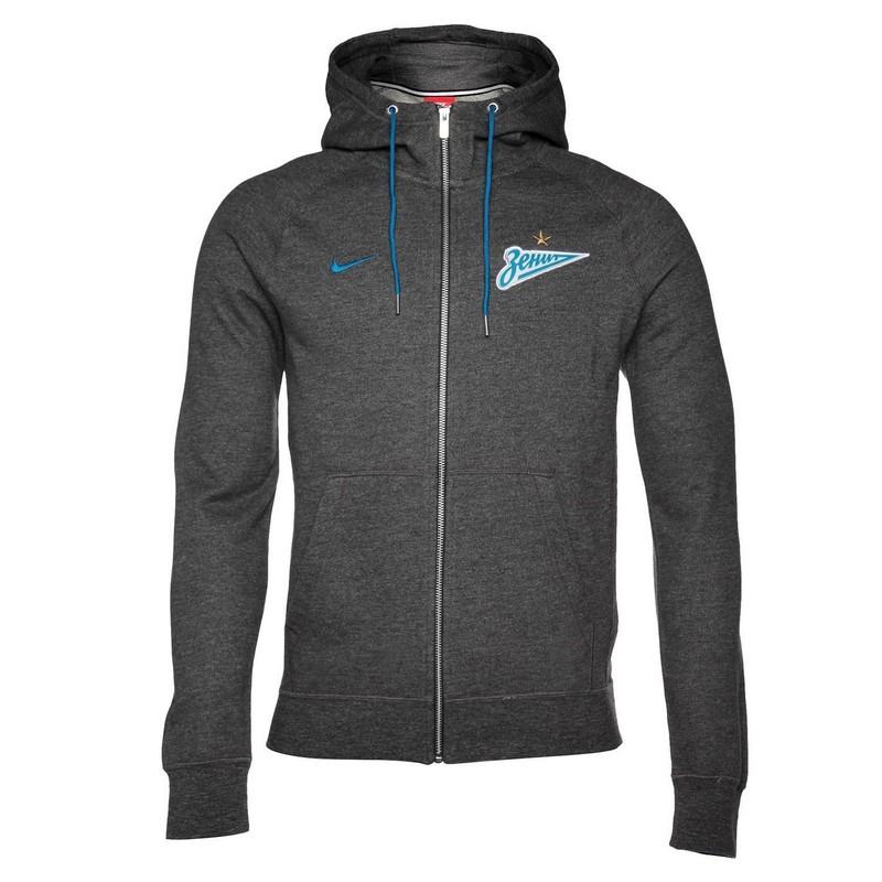 Толстовка мужская Nike Zenit Nsw Hoodie Fz Ft Aut 886765-071 серая толстовки regatta толстовка ryne