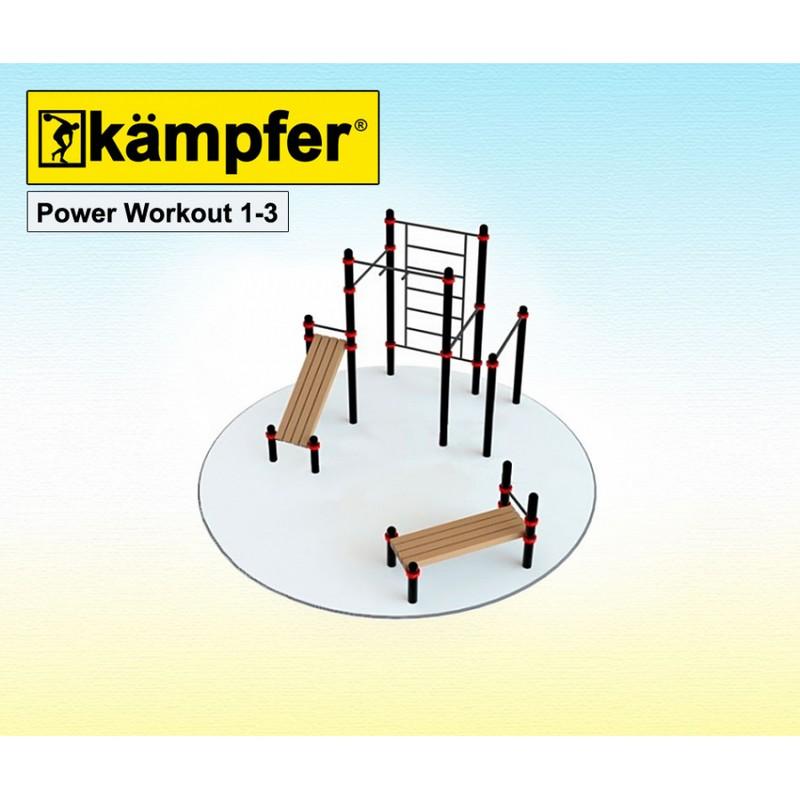 Воркаут площадка Kampfer Power Workout 1-3 от Дом Спорта