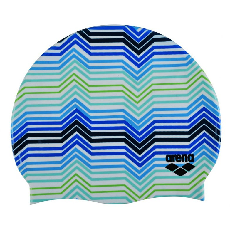 Купить Шапочка для плавания Arena Print 2 1E368237, мультиколор принт Stripes,