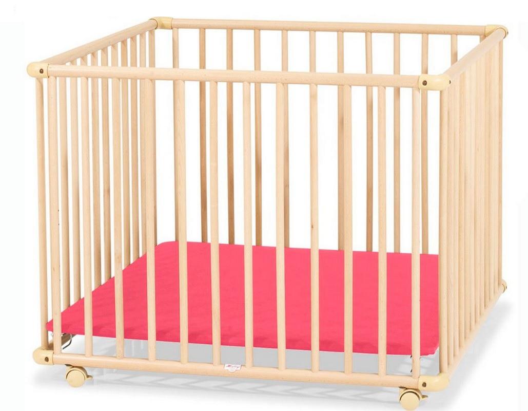 Детский Манеж Kettler 4-x секционный H1046-3602 дно красное