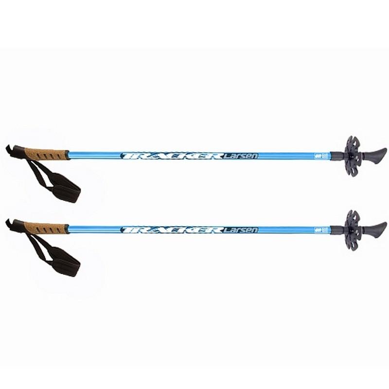 Купить Палки для скандинавской ходьбы l90-135см Larsen Tracker голубой,