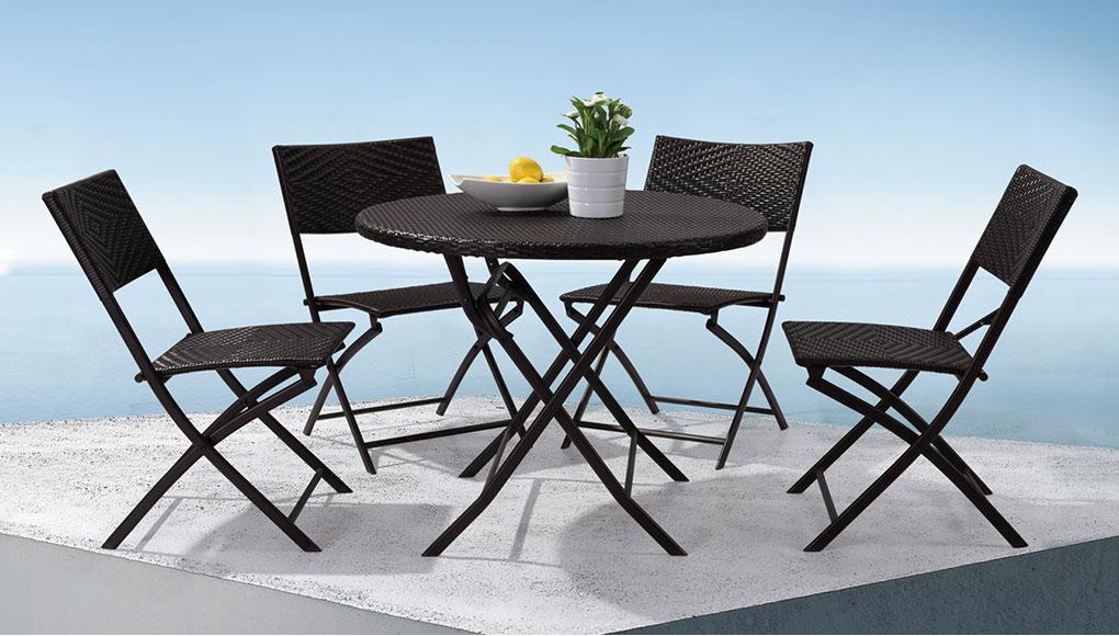 Комплект мебели GardenWay Vieux 760270 (4 стула+ столик) коричневый