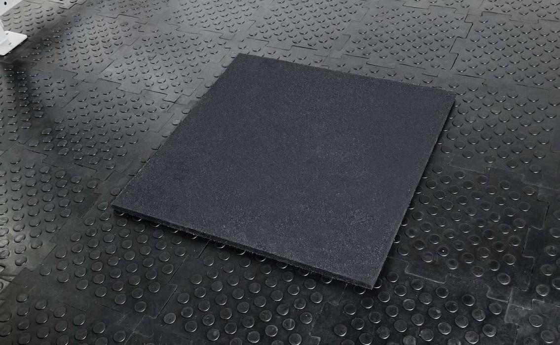 Напольное резиновое покрытие Stecter 1000х1000х30 мм (цвет - черный) 2245 игровые коврики орто пазл напольное покрытие микс базовый