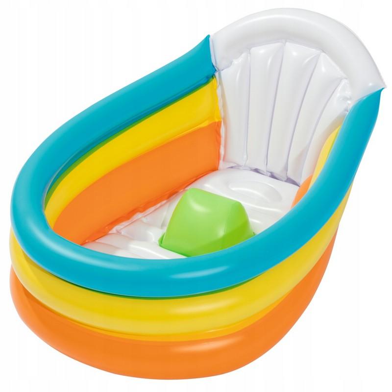 Купить Надувной бассейн для младенцев Bestway 76х48х33 см 51134,
