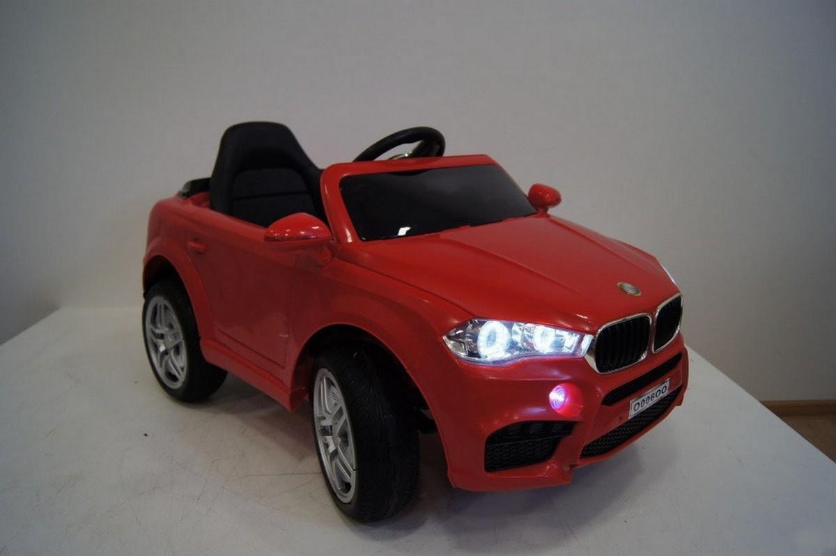 Купить Электромобиль River-Toys BMW O006OO VIP красный с ДУ, Детские электромобили