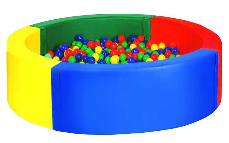 Круглый сухой бассейн 4-хцветный 1800х400х150мм Спортивные Технологии