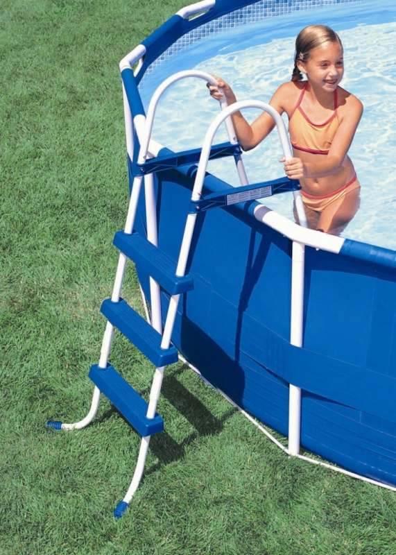 Лестница для бассейнов высотой 91см Intex 28060 лестница для бассейна intex 28060 h91см