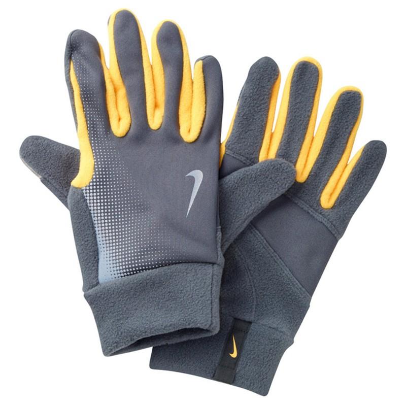 Перчатки для бега Nike Men'S Tech Thermal Running Gloves Dark Grey/Laser Orange nike nike rally running gloves