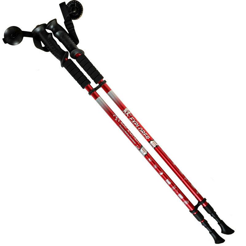 Палки для скандинавской ходьбы 2-х секционные с чехлом (красные) R18140-PRO фото