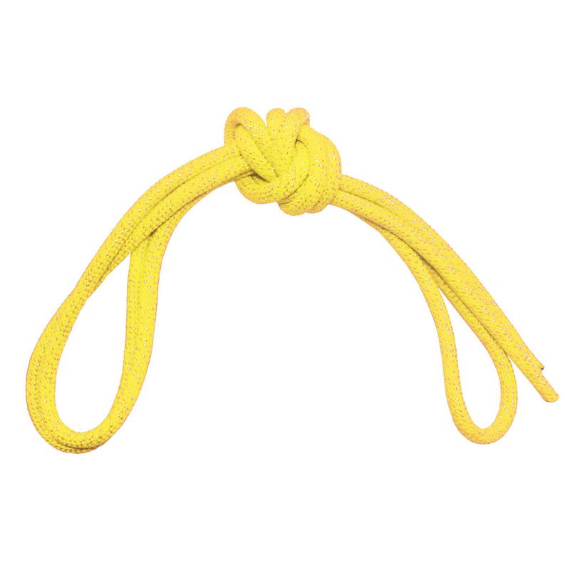 Скакалка гимнастическая с люрексом Body Form BF-SK04 (BF-JRGL01) 3м, 180гр (желтый)