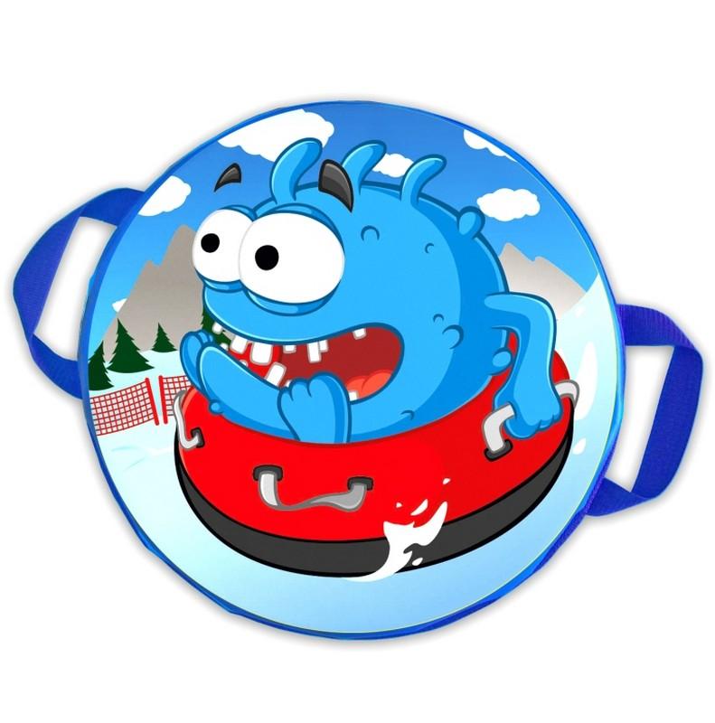 Ледянка мягкая круглая ComboSport D=40 см Чудик на ватрушке