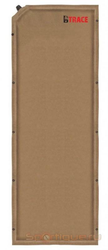 Ковер самонадувающийся BTrace Warrm Pad 5 (190х60х5см) M0205 коричневый