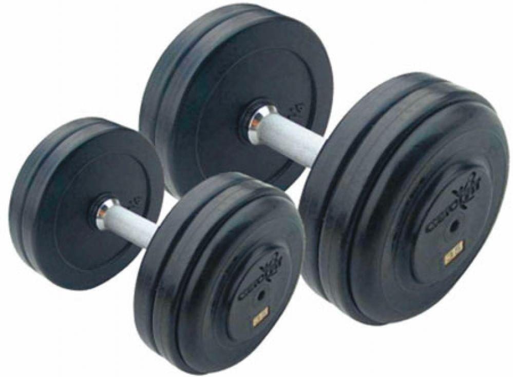 Набор гантелей Aerofit 40-50 кг, 5 пар, шаг 2,5 кг RFD-40/50 aerofit pldp